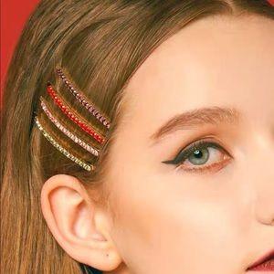 Rainbow Hair clips Zirconia Crystal